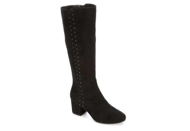 LAUREN BLAKWELL Womens Joyce Wide Calf - BLACK