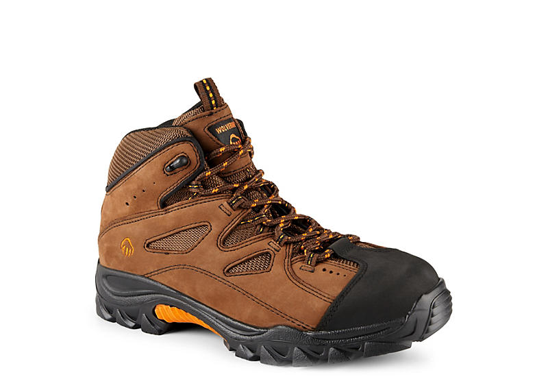 BROWN WOLVERINE Mens Steel Toe Hiker