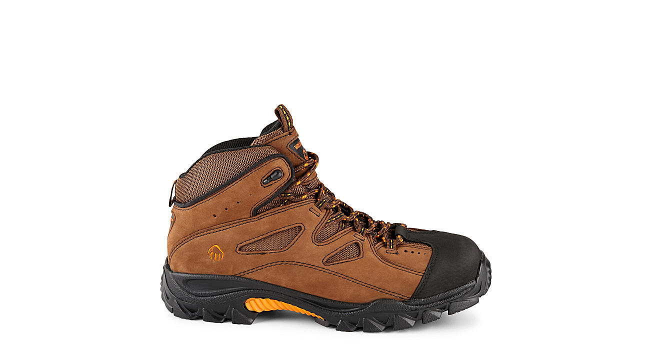 0f25139532c Wolverine Mens Steel Toe Hiker - Brown