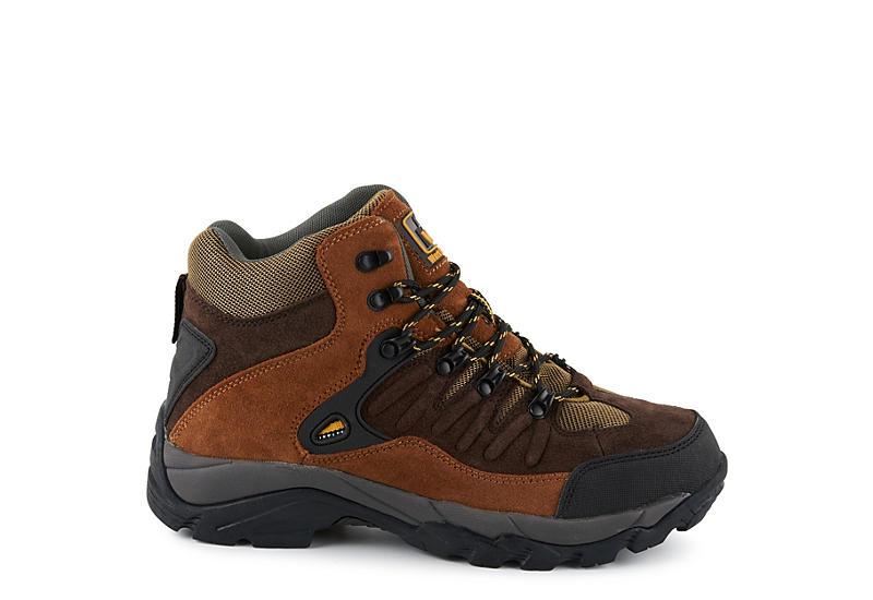 WORK MASTER Mens Steel Toe Hiker - BROWN