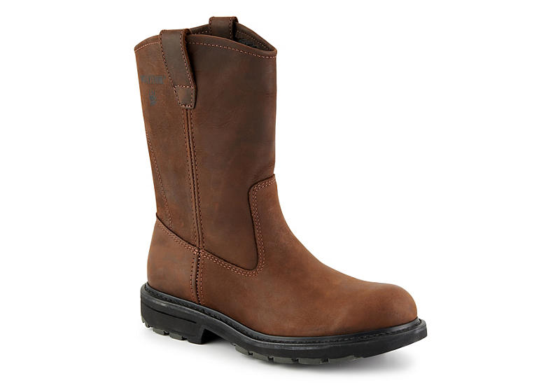 Brown Wolverine Mens Wellington Boots