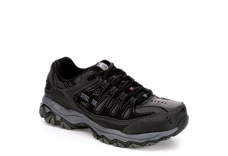 limited guantity newest style of lace up in BLACK SKECHERS Mens 77055