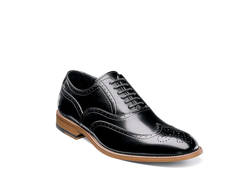 STACY ADAMS Mens Dunbar - BLACK