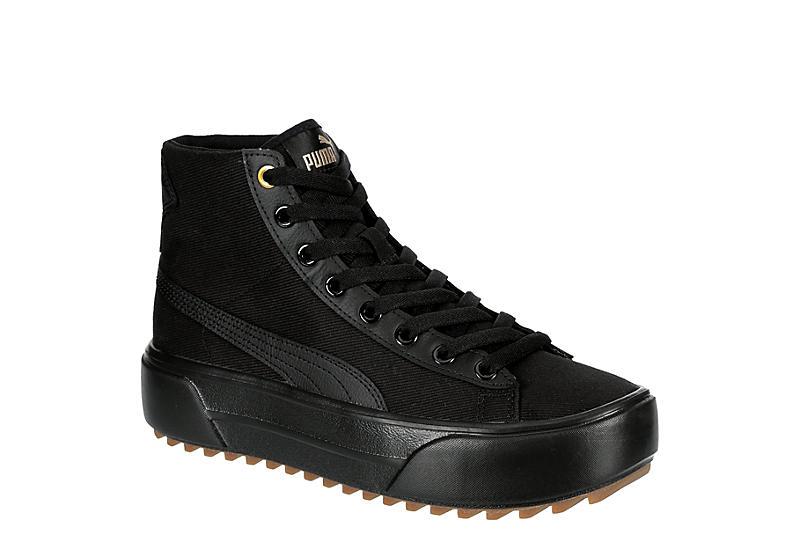 BLACK PUMA Womens Kaia High Top Platform Sneaker