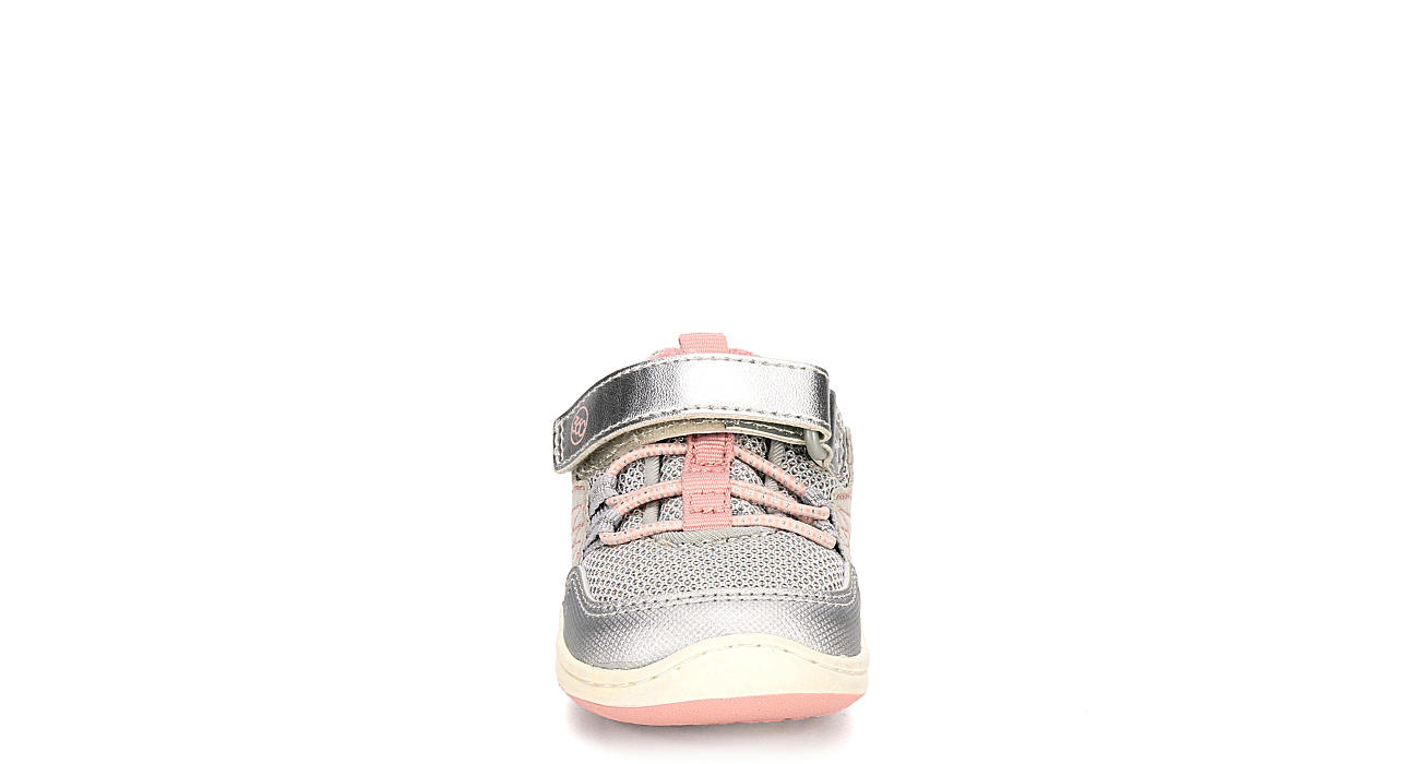 STRIDE RITE Girls Crib Keegan Slip On Sneaker - SILVER