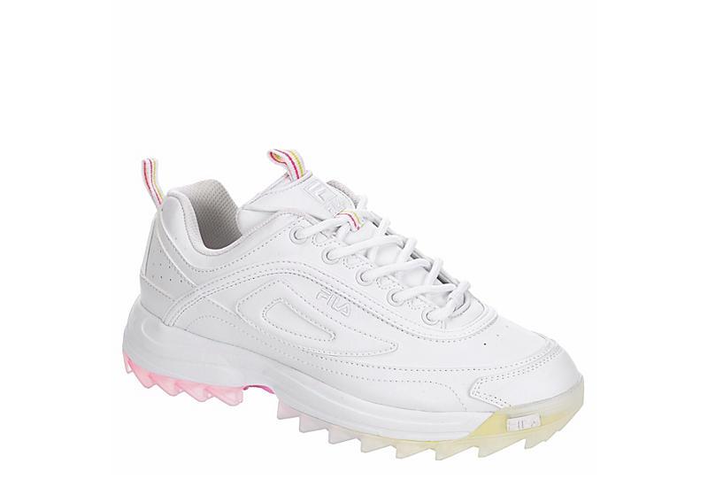 FILA Womens Distorter Sneaker - WHITE