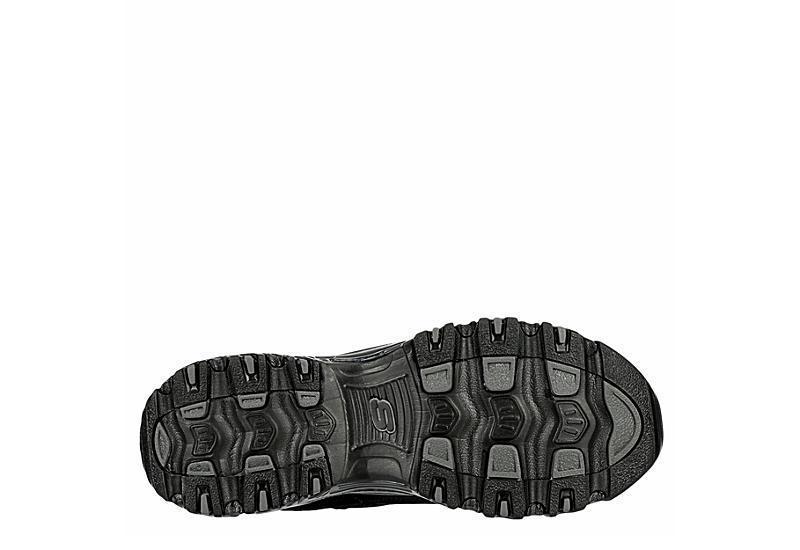 SKECHERS Womens Dlites Sneaker - BLACK