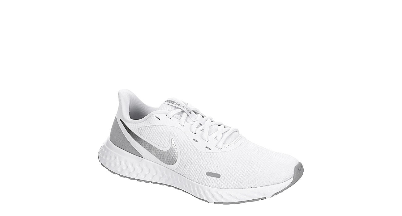 Bourgeon Discriminación Comparación  White Nike Womens Revolution 5 Running Shoe | Athletic | Rack Room Shoes