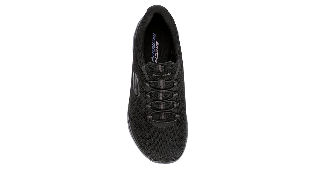 SKECHERS Womens Summits Slip On Sneaker - BLACK