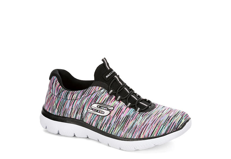 SKECHERS Womens Summits Slip On Sneaker - BLACK
