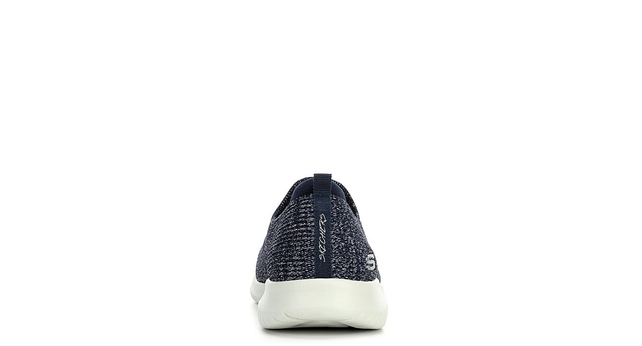 SKECHERS Womens Ultra Flex Harmonious Slip On Sneaker - NAVY