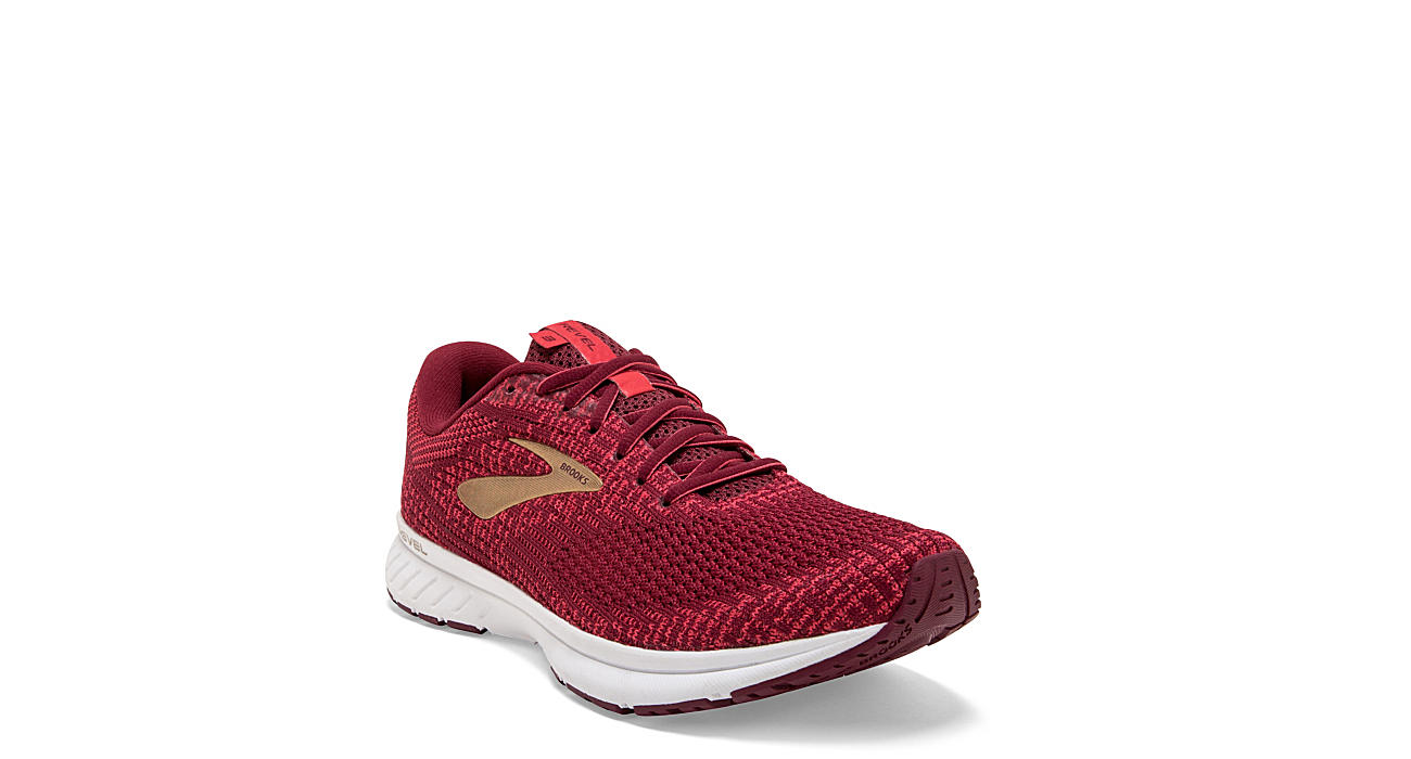 BROOKS Womens Revel 3 Running Shoe - RED