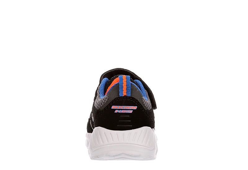 SKECHERS Boys Infant S Lights Magna-lights Light Up Sneaker - BLACK