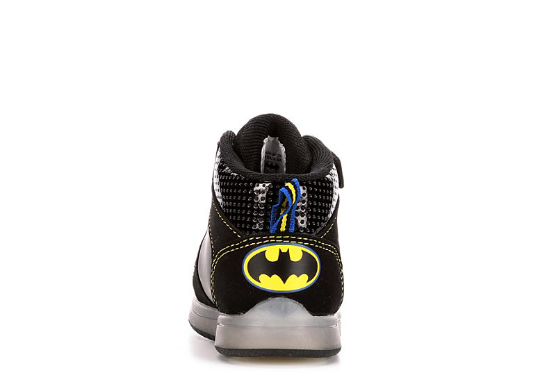 BATMAN Boys Infant Batman Light Up Sneaker - BLACK