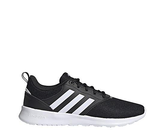 Grey Women's Adidas Cloudfoam QT Racer Sneakers   Rack Room Shoes