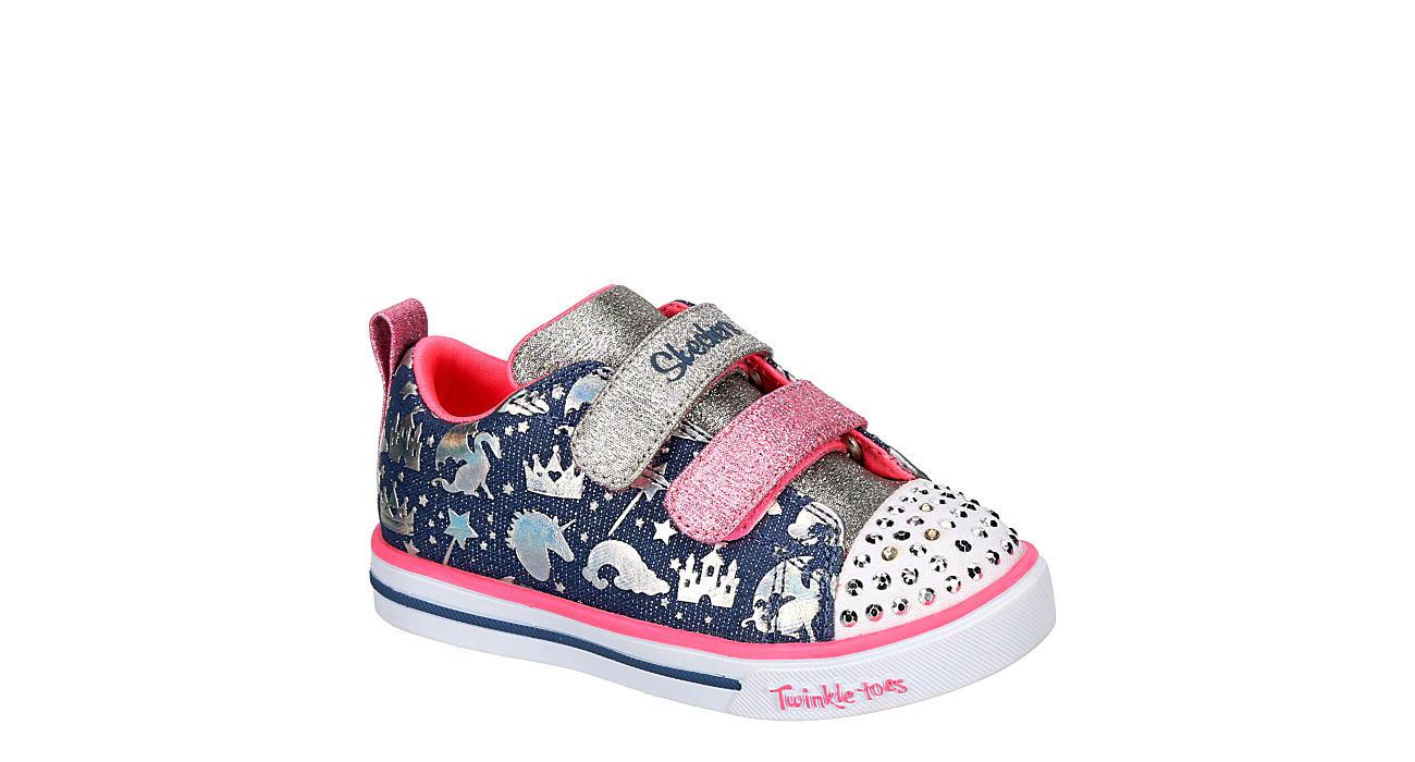 SKECHERS Girls Infant Twinkle Toes Sparkle Lite - Sparkleland - DENIM