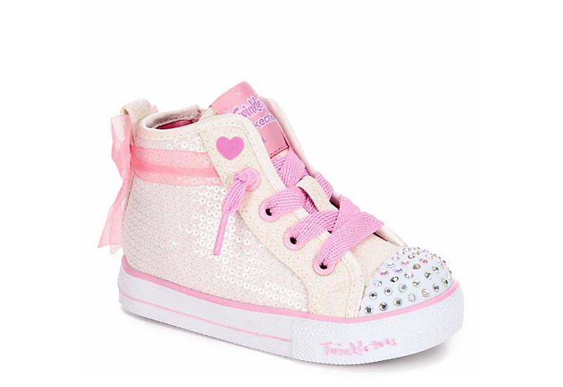 select for newest 100% high quality wide selection of designs WHITE SKECHERS Girls Infant Twinkle Toes Shuffle Lite - Sparkle Beauty