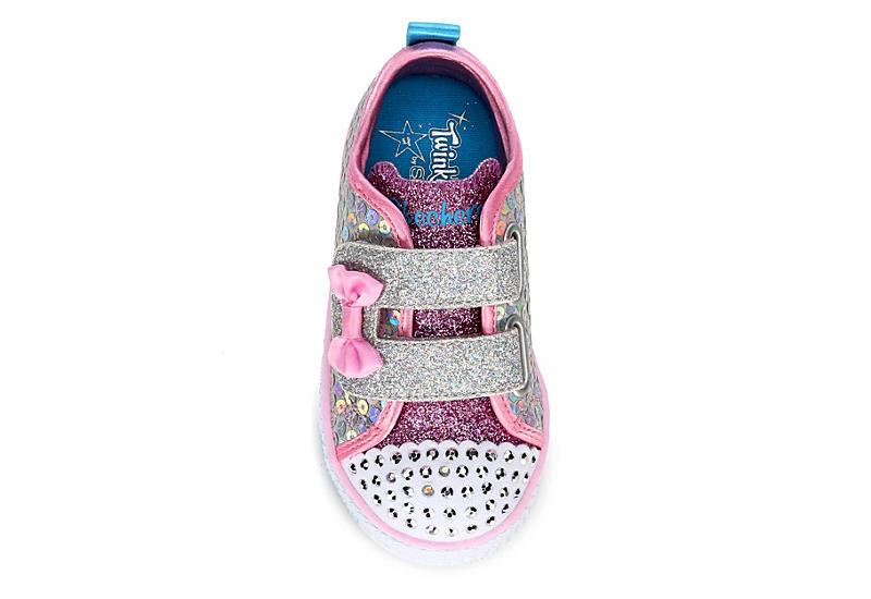 SKECHERS Girls Infant Twinkle Toes Shuffle Lite - Mini Mermaid - SILVER