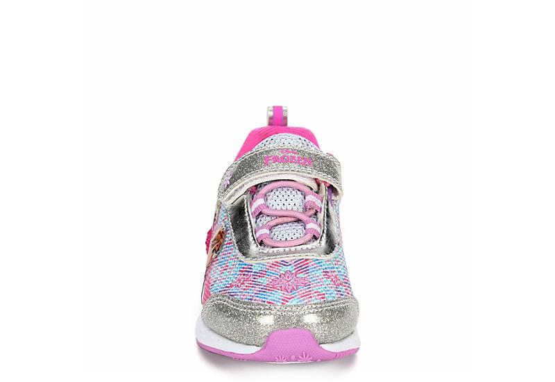 DISNEY Girls Infant Frozen Light Up Sneaker - SILVER