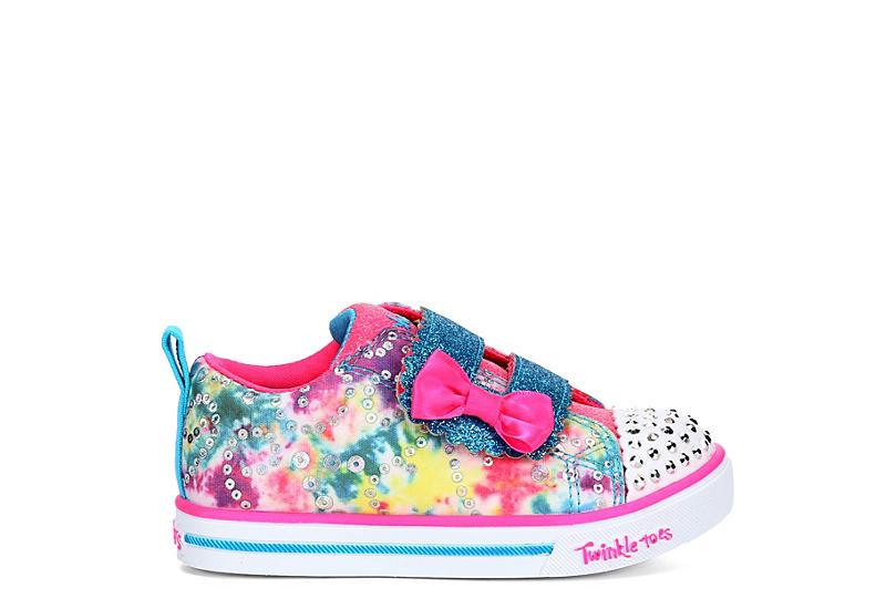 SKECHERS Girls Infant Twinkle Toes Sparkle Lite - Rainbow Cuties - MULTICOLOR