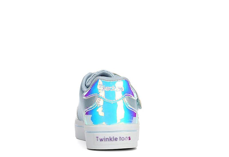 SKECHERS Girls Infant Twinkle Toes Twi-lites - Fashion Flyers - SILVER