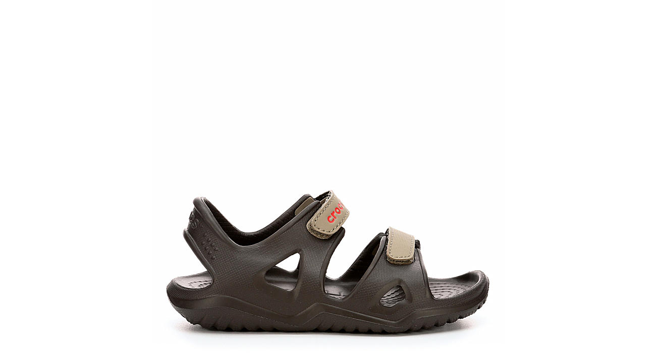 CROCS Boys Infant Swiftwater River Outdoor Sandal - BROWN
