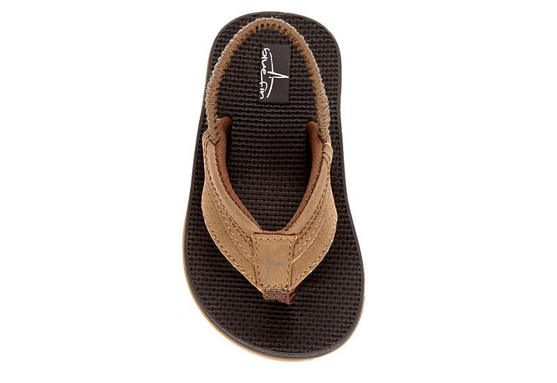 BLUEFIN Boys Infant Lil Zeb Flip Flop Sandal - BROWN