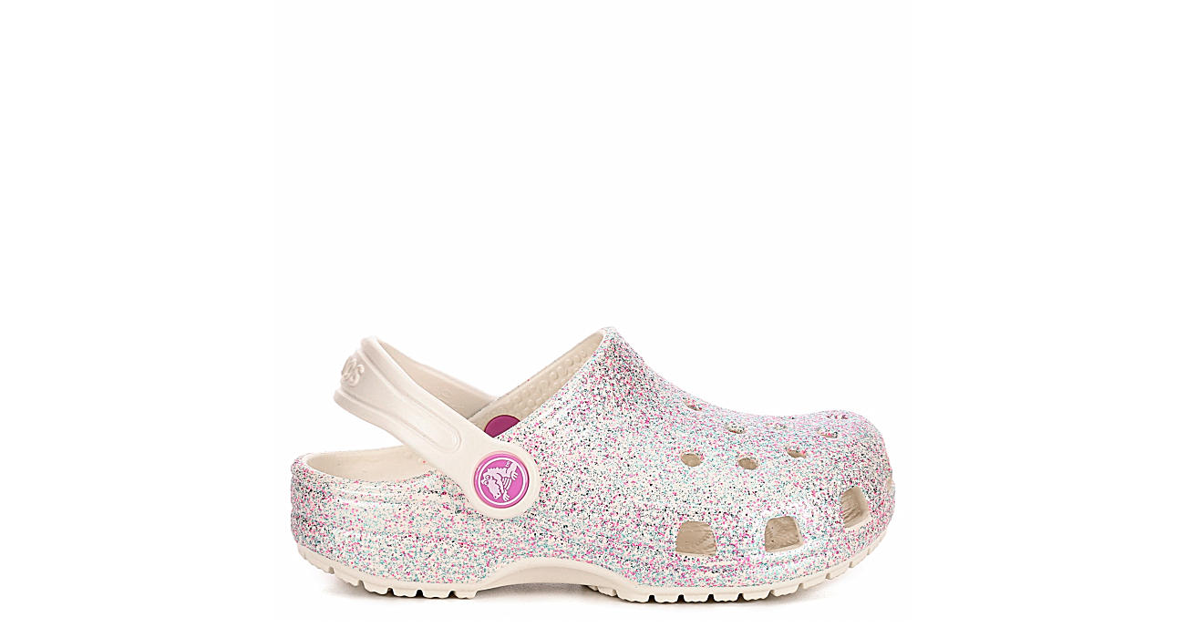 CROCS Girls Infant Classic Clog - OFF WHITE