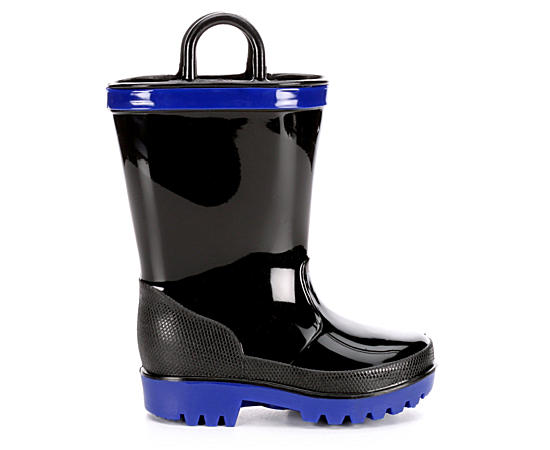 Boys Cool Black Rainboot