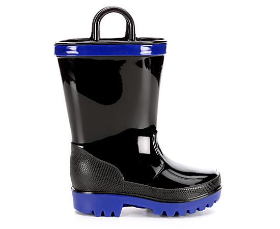 Boys Cool Black Rainboot