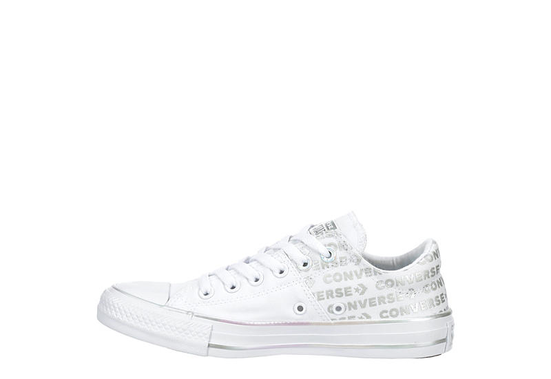 CONVERSE Womens Chuck Taylor All Star Madison Iridescent Wordmark - WHITE