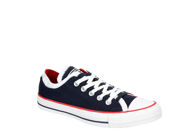 NAVY CONVERSE Womens Chuck Taylor All Star Double Upper Sneaker