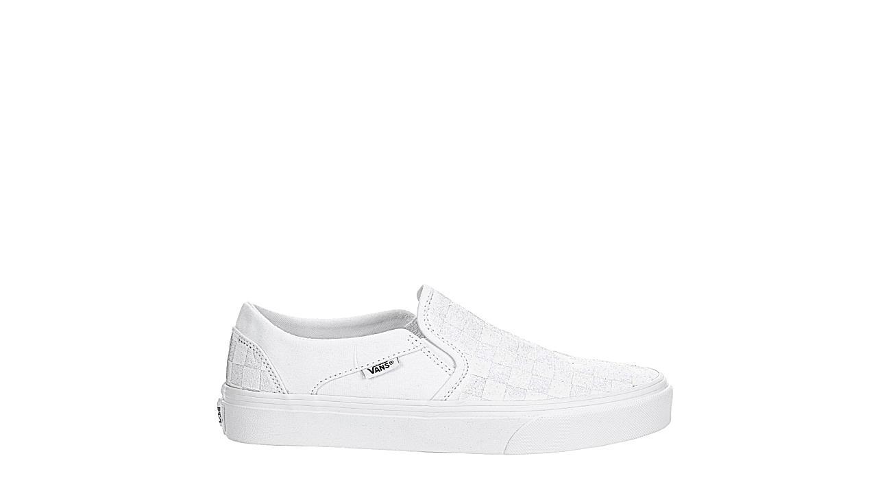VANS Womens Asher Slip On Sneaker - WHITE