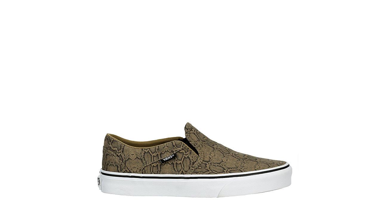 Vans Womens Asher Slip On Sneaker - Snake