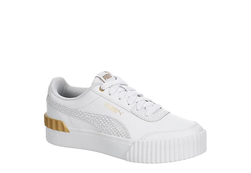 WHITE PUMA Womens Carina Lift Sneaker
