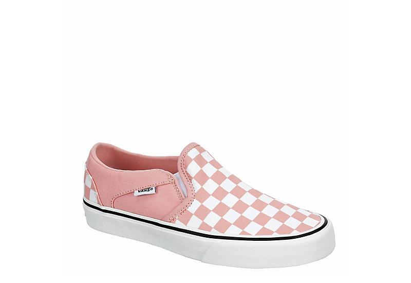 PINK VANS Womens Asher Slip On Sneaker