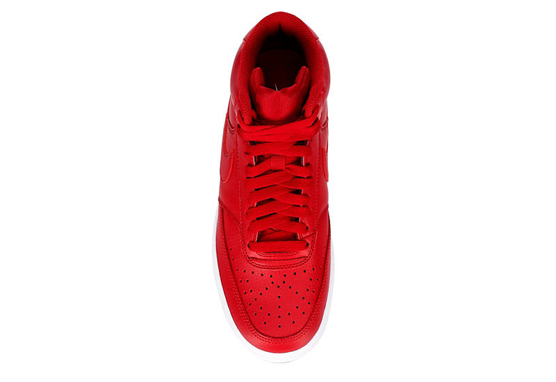 NIKE Womens Court Vision Mid Sneaker - RED