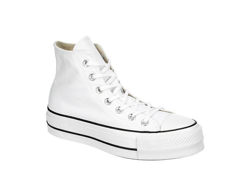 WHITE CONVERSE Womens Chuck Taylor All Star High Top Platform Sneaker