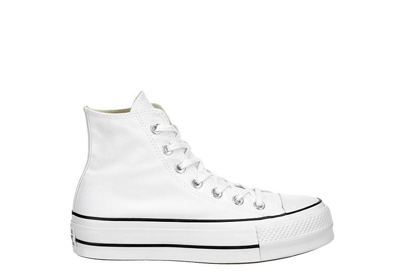 Converse Womens Chuck Taylor All Star High Top Platform Sneaker - White