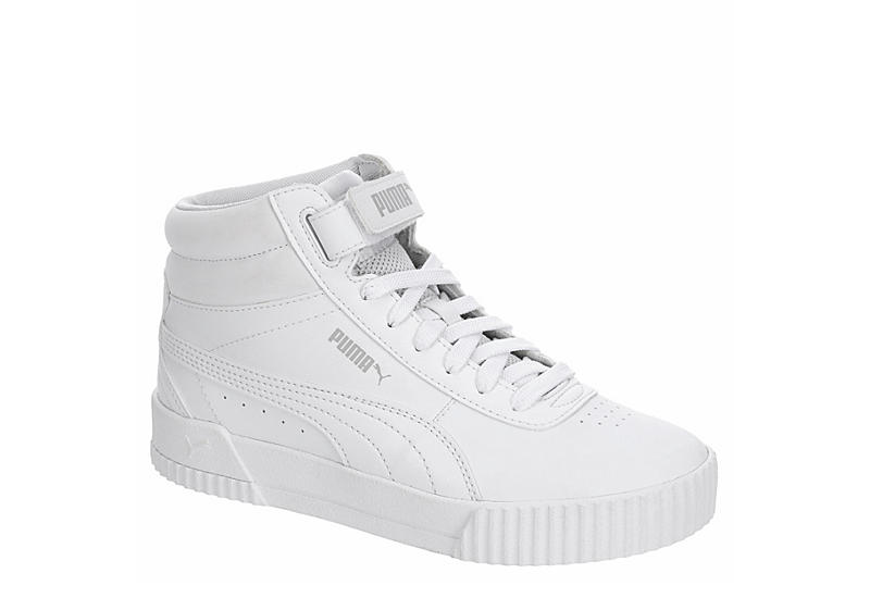 White Puma Womens Carina Mid Top Sneaker   Athletic   Rack Room Shoes