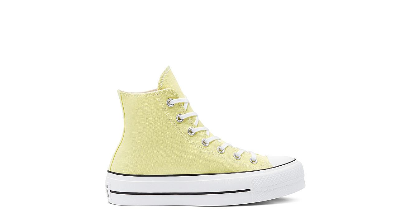 Converse Womens Chuck Taylor All Star High Top Platform Sneaker - Bright Yellow