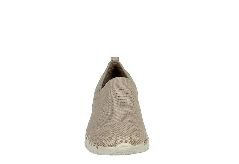 SKECHERS Womens Go Walk 5 Slip On Sneaker - TAUPE