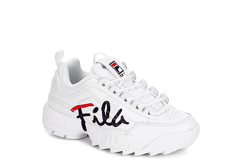 new lifestyle multiple colors Sales promotion WHITE FILA Womens Disruptor 2 Script