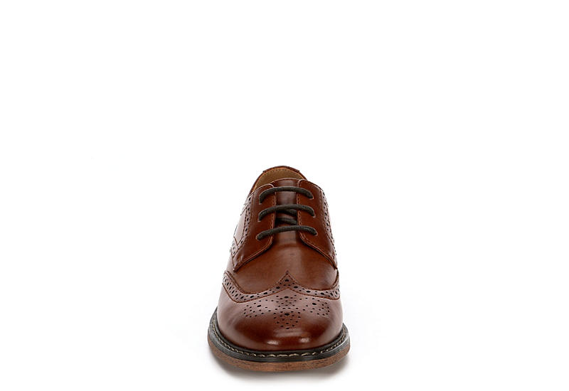 BORELLI Boys Jack Wingtip Oxford - BROWN