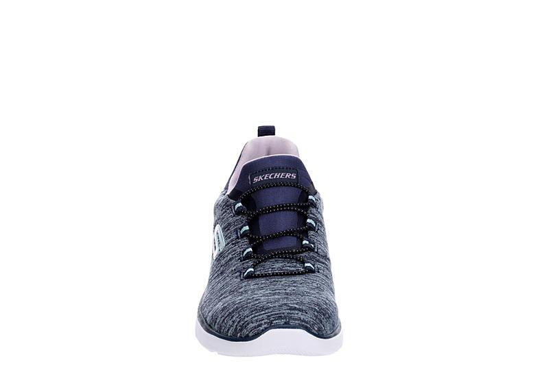 SKECHERS Womens Summits Slip On Sneaker - NAVY