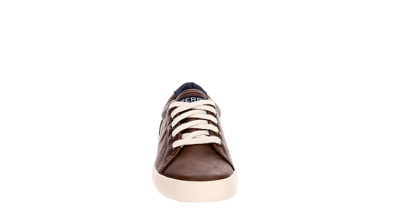 SPERRY Boys Tuck Ltt Sneaker - DARK BROWN