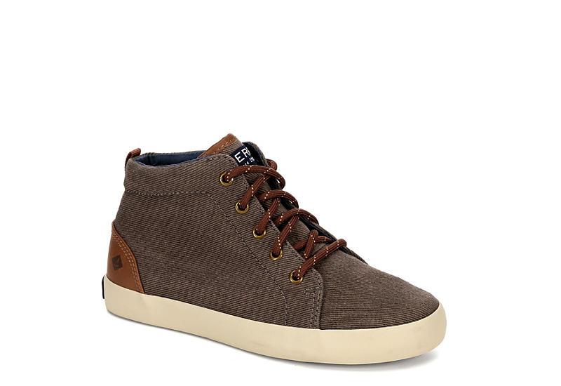 SPERRY Boys Tuck Mid Sneaker - BROWN