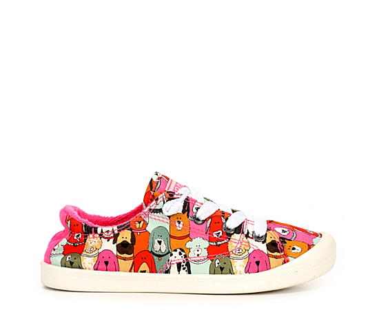 Girls Lil Bobs Beach Bingo - Dog Park Slip On Sneaker