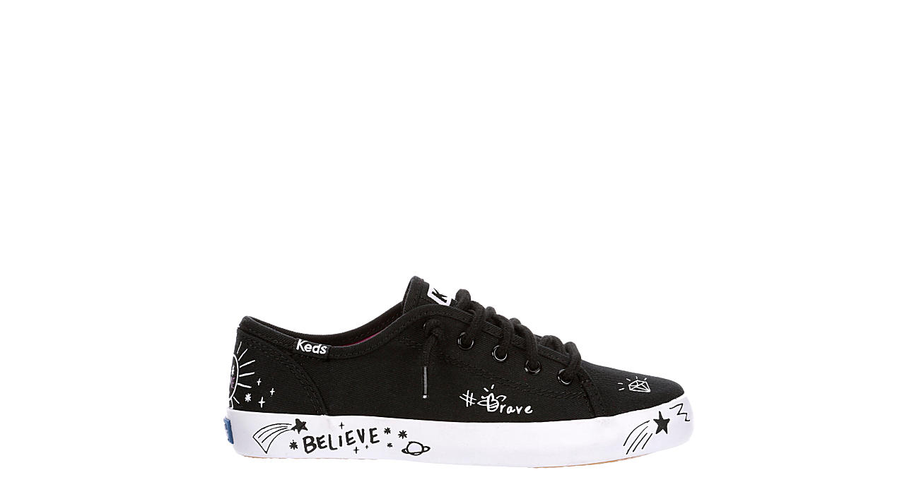 KEDS Girls Kickstart Sneaker - BLACK