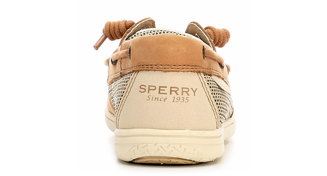 SPERRY Girls Shoresider 3 Eye Boat Shoe - TAN